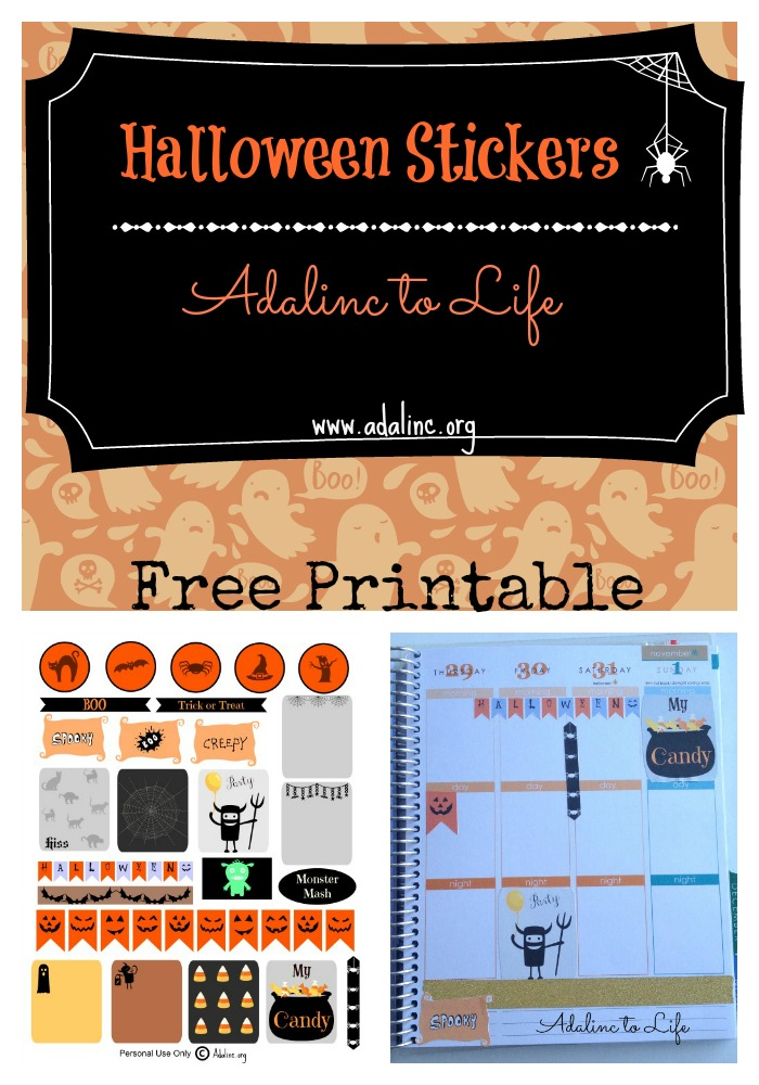 Halloween Planner Stickers and Free Printables