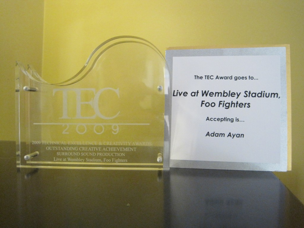 Adam's Foo Fighters TEC Award