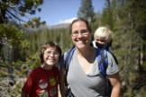 Mom and the boys above Soda Springs