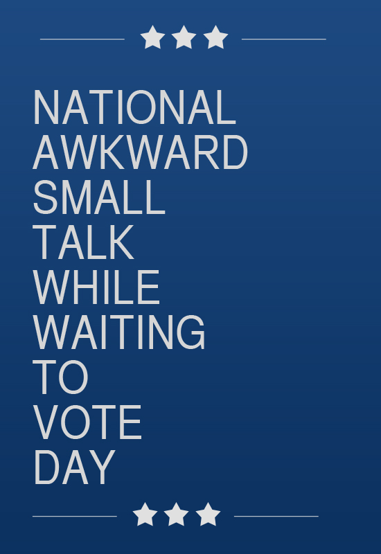 national awkward small talk day