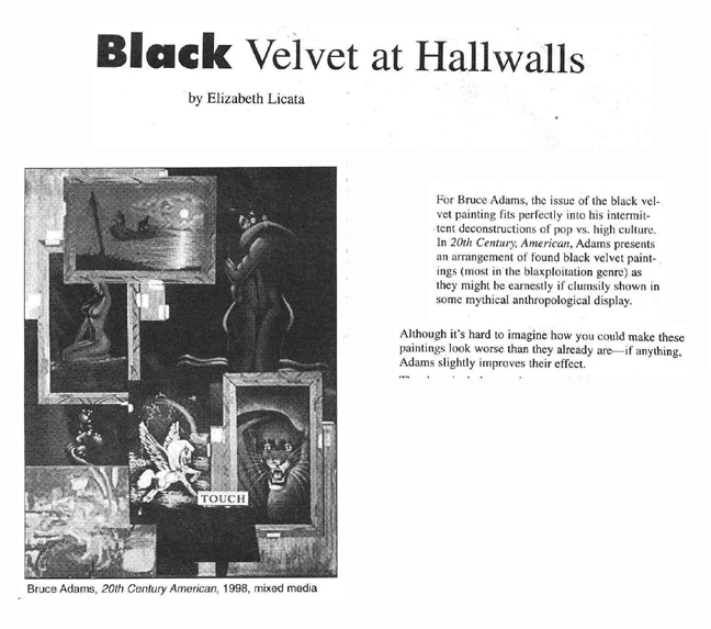 black velvit at hallwalls -artvoice