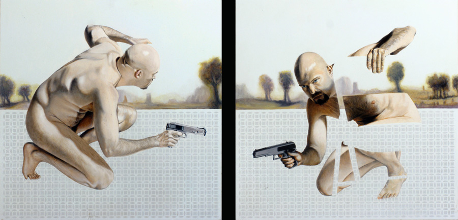 Untitled 016	(Gun Guy) Dyptych