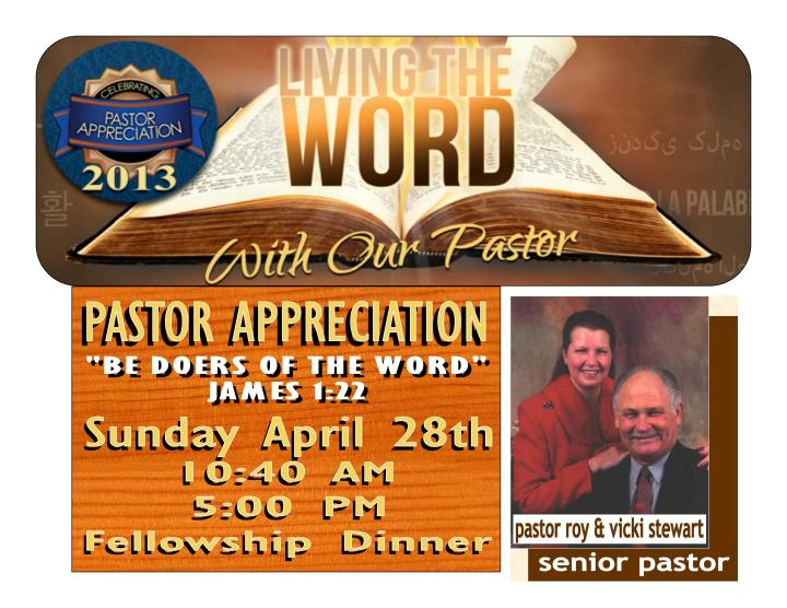 Free Sample Welcome And Occasion Pastor Anniversary | just ...