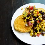 Hoecakes with Black Bean Salsa