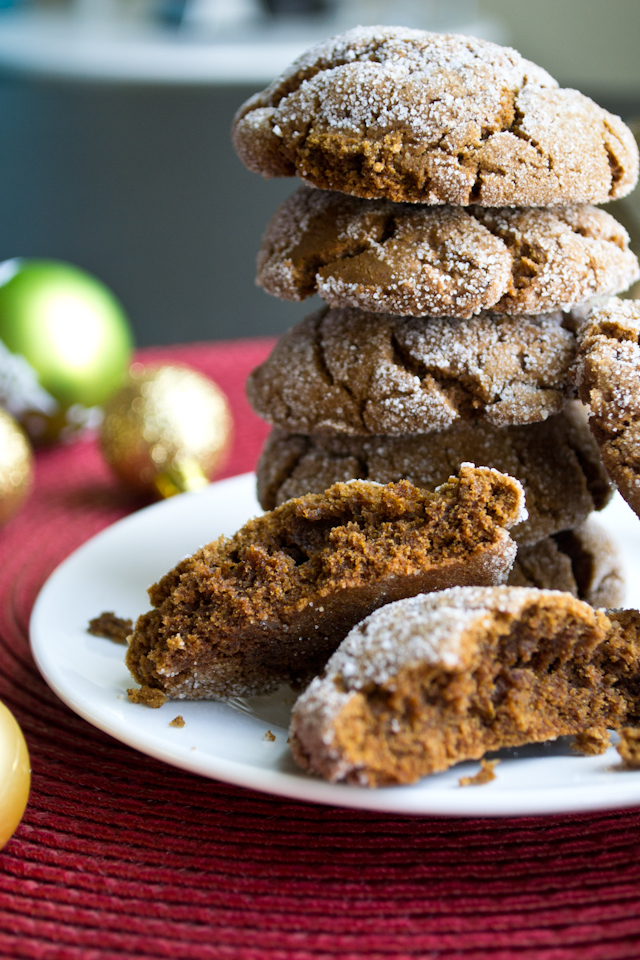 Vegan Molasses Cookies from A Dash of Soul