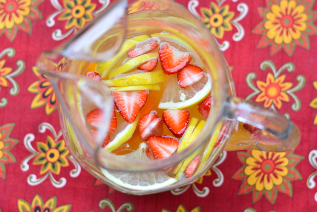 Luscious White Sangria   Turn an ordinary bottle of white wine into a luscious, fruity crowd pleaser with this simple recipe!   adashofsoul.com