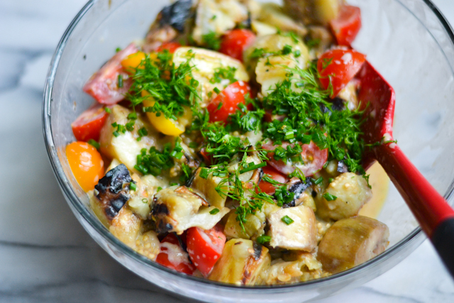 Charred Eggplant Salad from Food Network Magazine