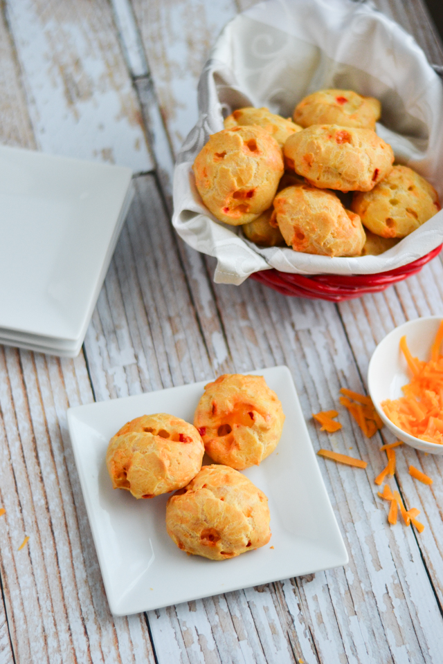 These fluffy cheese balls make a perfect party appetizer or anytime snack!