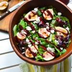 Fig and Goat Cheese Salad with Blackberry Balsamic Vinaigrette