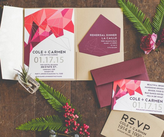 St George UT Wedding Invitation Design