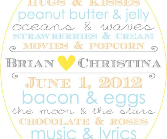 Menus, signs, invitations, save-the-dates and more custom designs in southern utah by April Davis