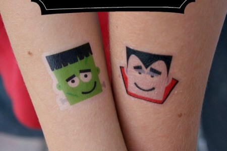 create your own halloween temporary tattoos