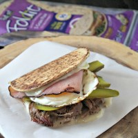 Elevated Cuban Sandwich Wrap #FlatoutLove