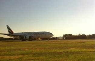 Flight EK231 arrives at Washington Dulles International Airport