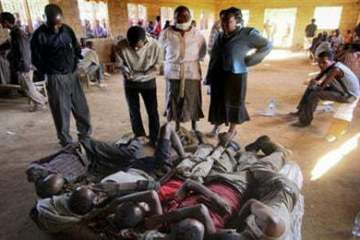 Survivors of the gruesome accident that killed 54 Ethiopians on the way to Tanzania -  AP Photo