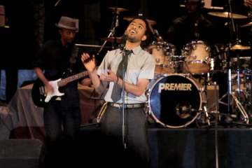 Dawit Getachew and his band