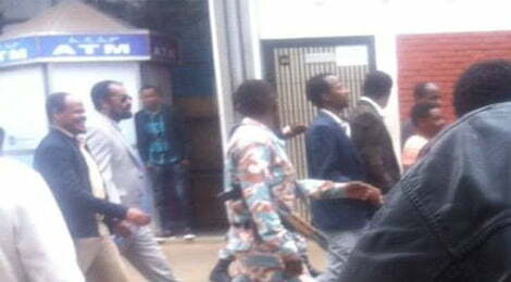 Bekele Gerba arriving at court