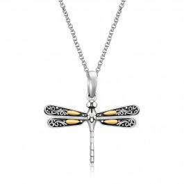 Baroque Silver Dragonfly Earrings, Pendant, Ring, Bracelet