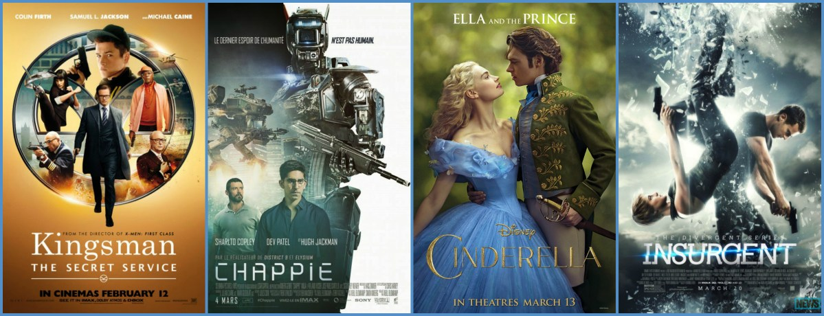Kingsman, Chappie, Cinderella, Insurgent (Movie Reviews)