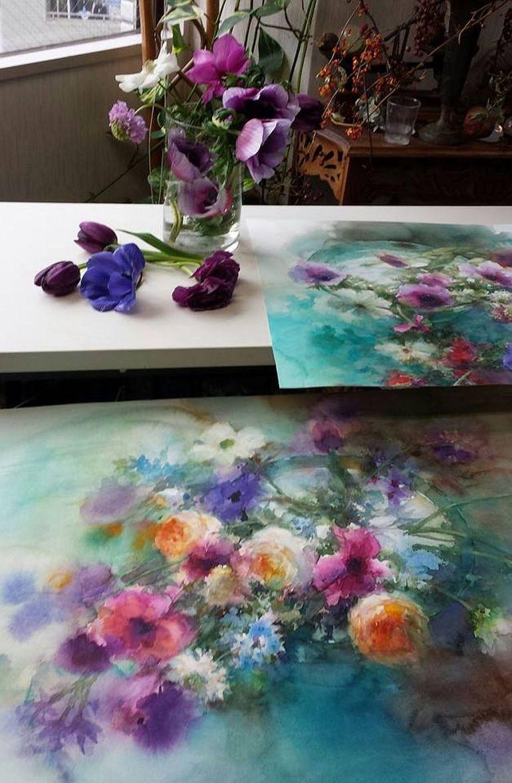 adelaparvu.com despre casa atelier a pictoriteti Yuko Nagayama, artiste acuarela (20)