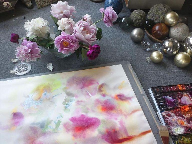 adelaparvu.com despre casa atelier a pictoriteti Yuko Nagayama, artiste acuarela (4)
