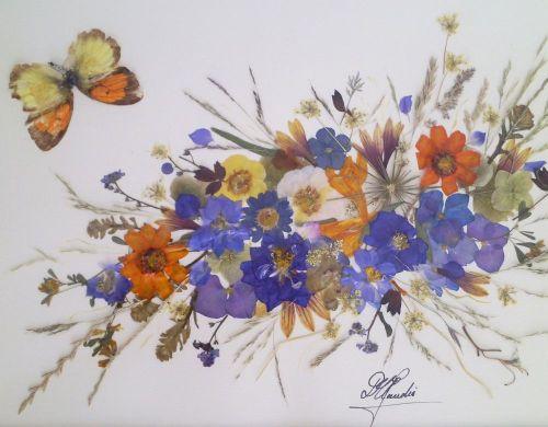 adelaparvu.com despre tablouri cu flori presate, tehnica oshibana, artist Claudia Duman, Timisoara, Romania (8)