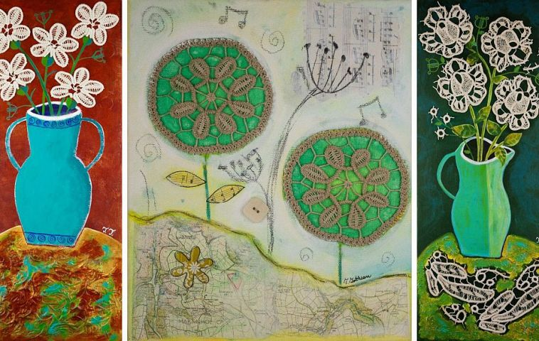 adelaparvu.com despre picturi naive cu macrameuri, artist Teodora Totorean (8)
