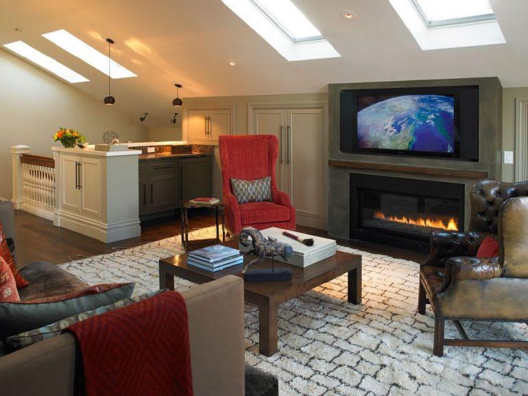 Foto Gast Architects televizorul în cameră Unde se pune televizorul în cameră și la ce distanță de canapea sau pat? adelaparvu