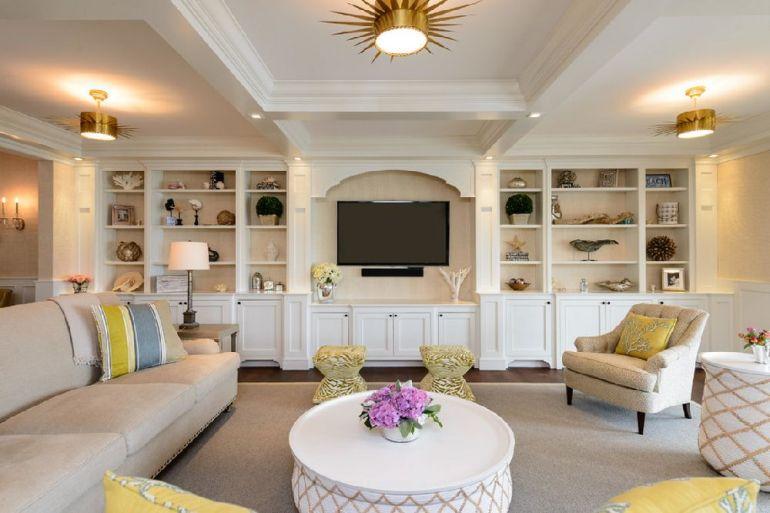 Foto Space Savvy Design televizorul în cameră Unde se pune televizorul în cameră și la ce distanță de canapea sau pat? adelaparvu
