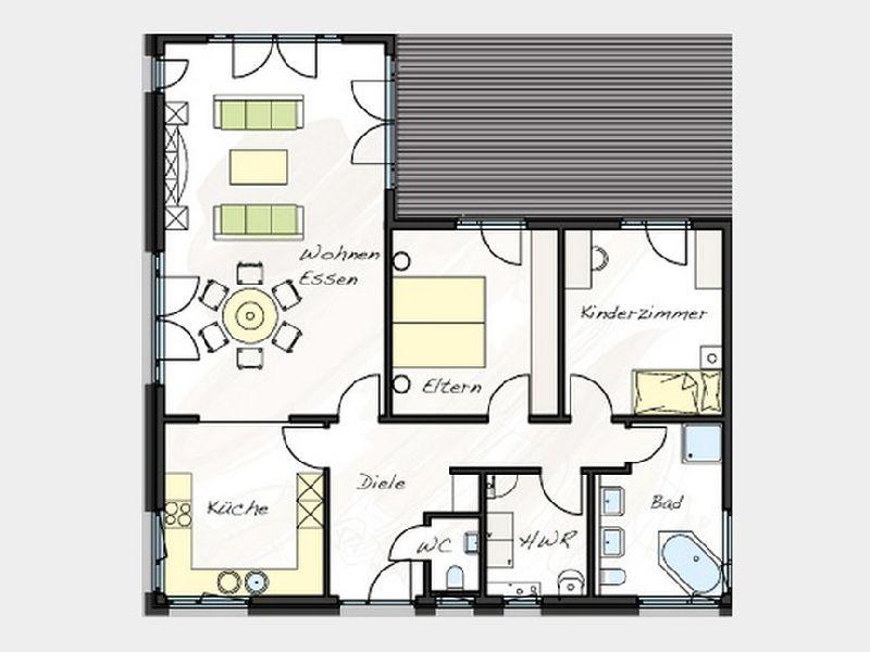 Model casa Prolife 114, Suprafata 113,9 mp, 3 camere, Proiect Haus xxl