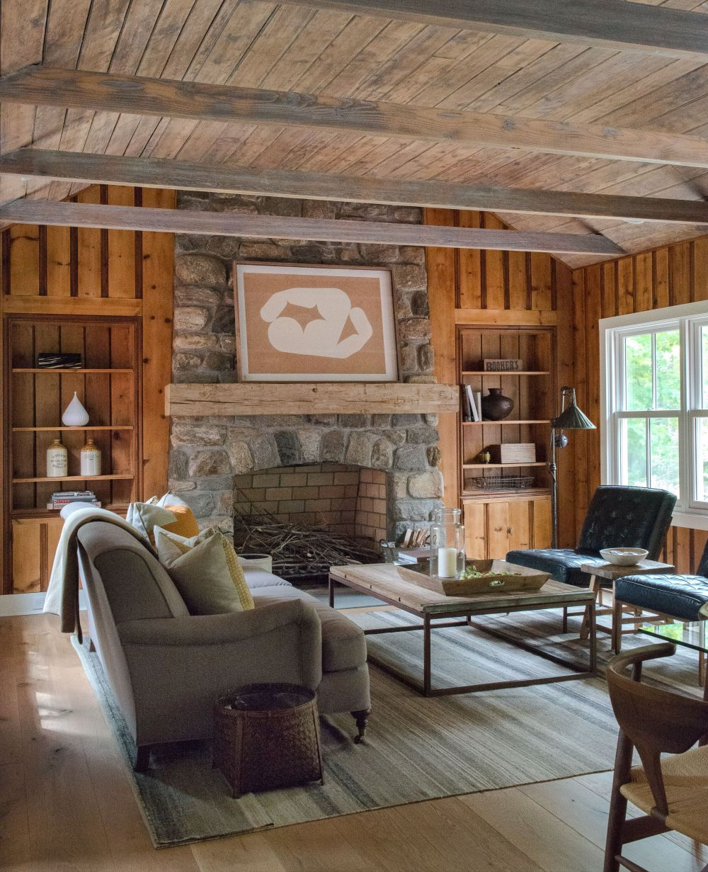adelaparvu.com despre casa din lemn cu interior rustic actual, Design Kelly Mittleman, arch Mark Finlay, Foto Jane Beiles (30)