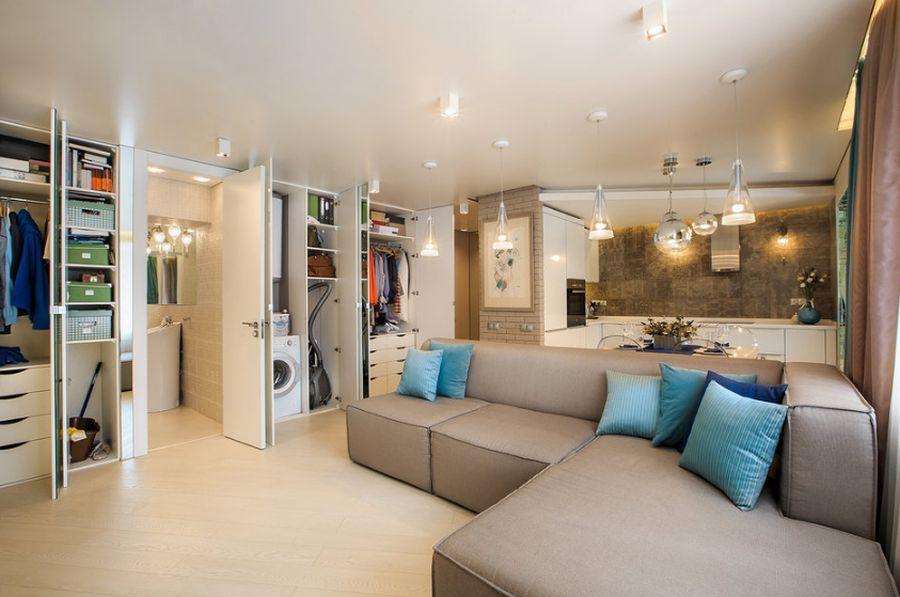 Apartament de 45 mp cu multe spații de depozitare