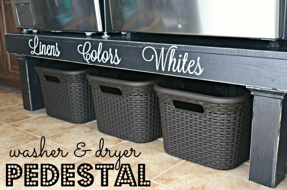 washer & dryer pedestal