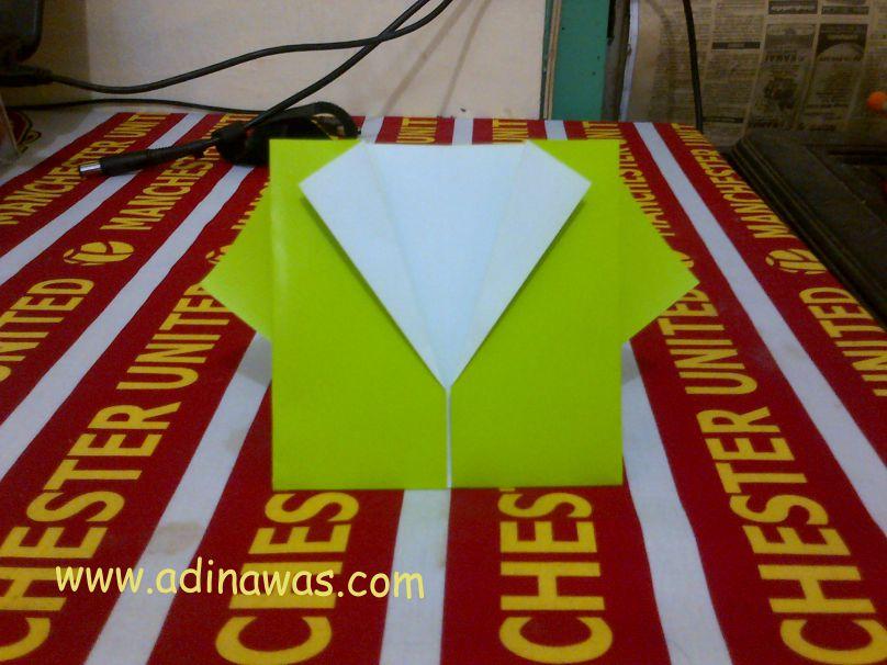 Cara Melipat Origami Kemeja