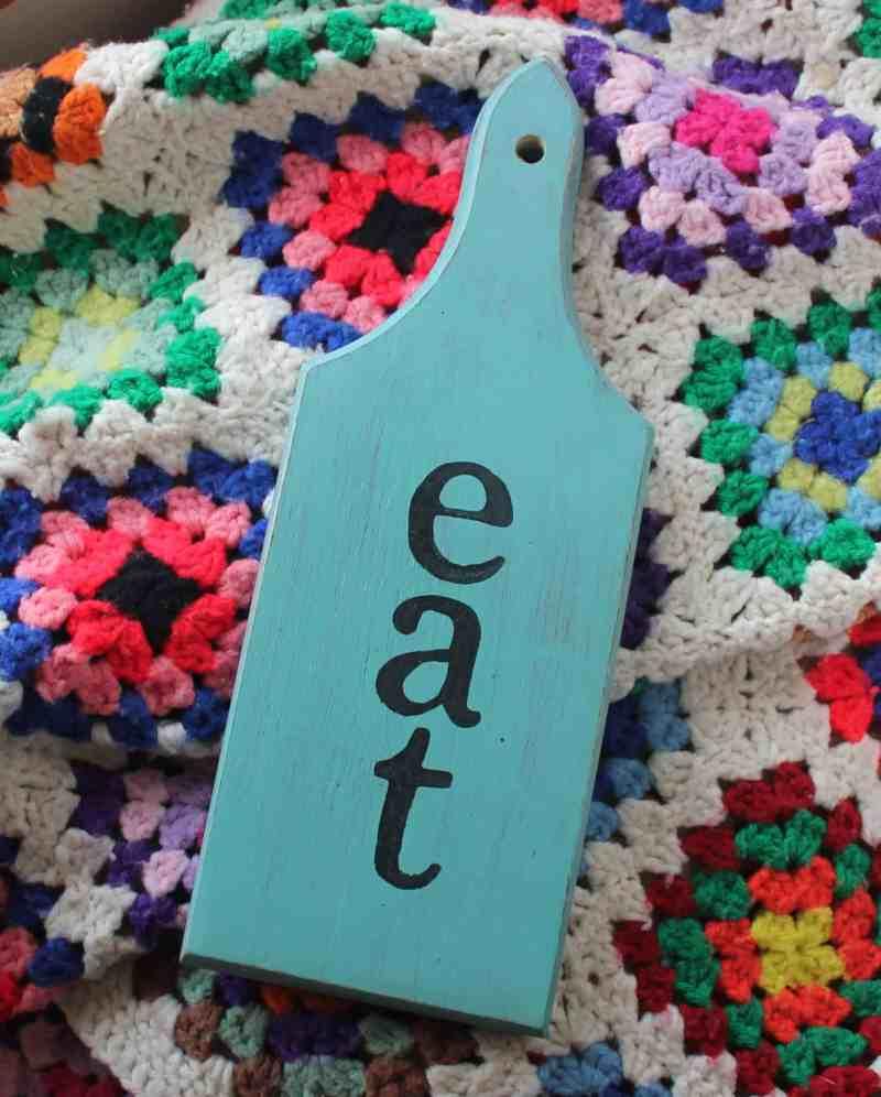 eat DIY Bread Board on Afghan