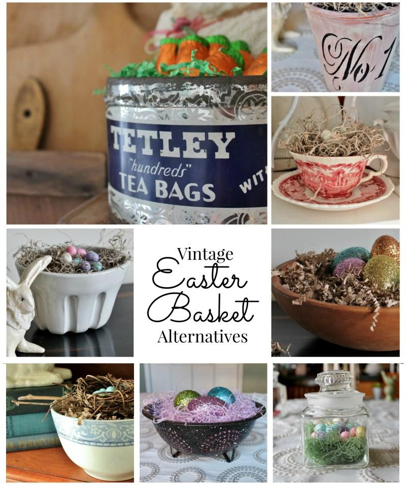 Vintage Easter Basket Alternative Large Collage