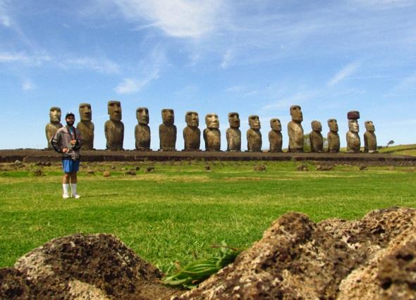 ariel - ahu tongariki - ipc - moai - isla de pascua -
