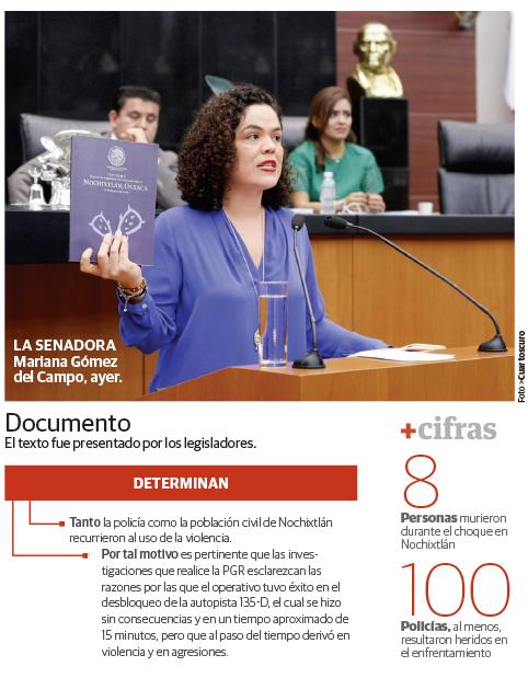 Víctimas de Nochixtlán rechazan informe de Senado