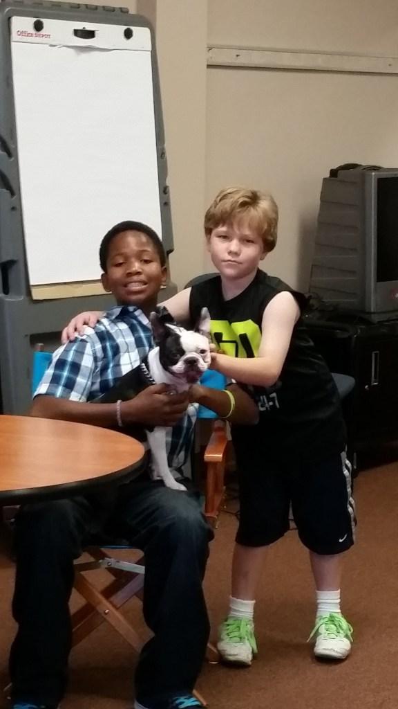Moe loves dogs!
