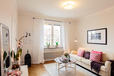 naturally inviting girly apartment 1