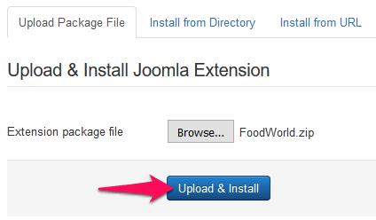 Joomla - extensions manager slika 4