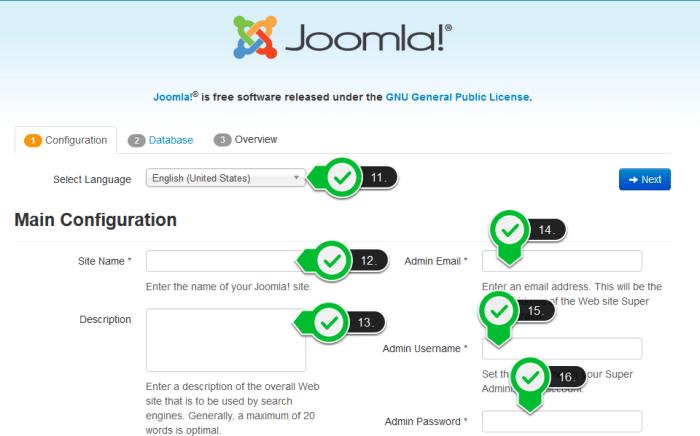 Joomla - instalacija slika 1