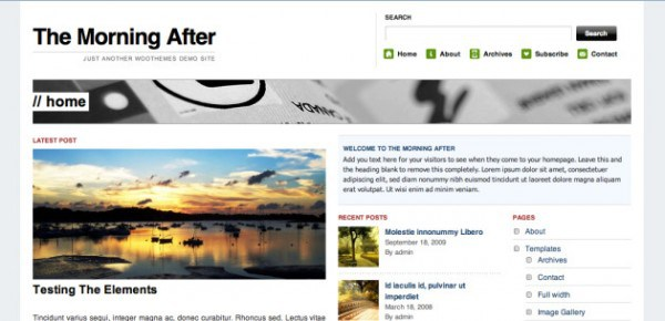 The Morning After WordPress theme