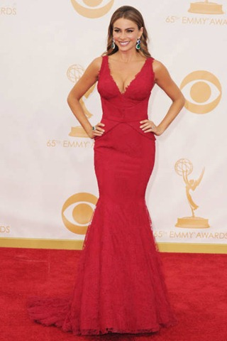 Vera Wang, red carpet, Emmy 2013