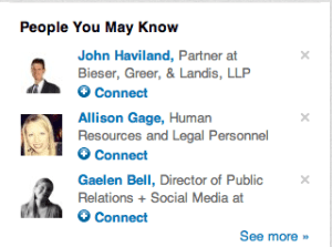People You May Know on LinkedIn