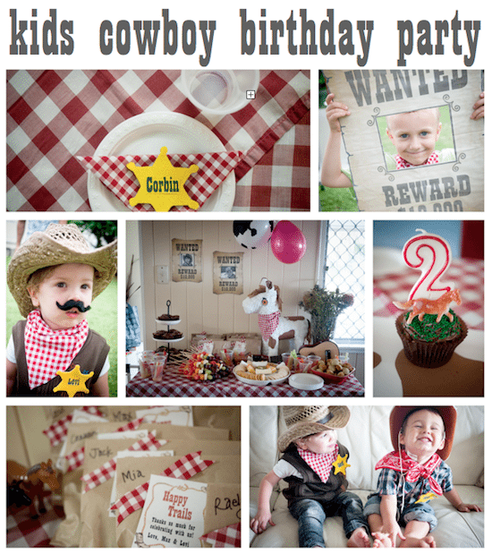 Kids cowboy birthday party – Cowboy and Indian Party Invitations