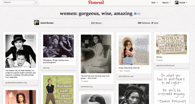 pinterest board inspiring women
