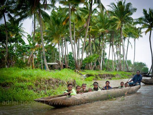 Family of Bamio, Western Province, Papua New Guinea.