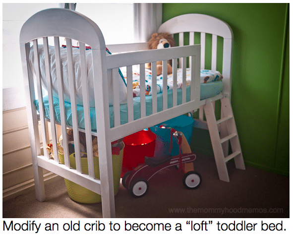 Diy On A Dime How To Make A Toddler Loft Bed Out Of An