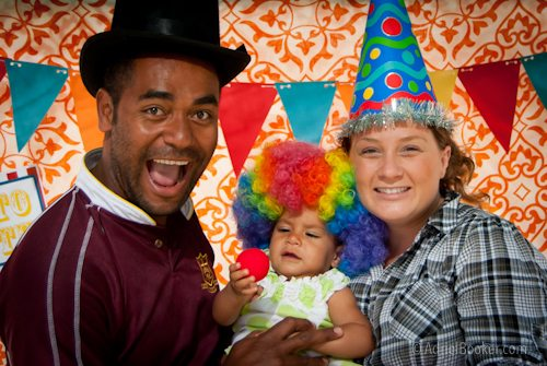 Judah's First Birthday Circus Party photo booth